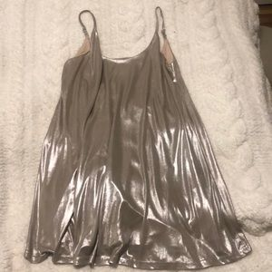 love Culture Gold/Taupe Shimmer Dress